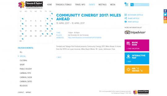 Community Cinergy 2017 : Miles Ahead