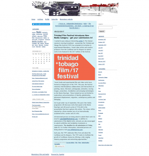 Trinidad Film Festival Introduces New Media Category – get your submissions in!