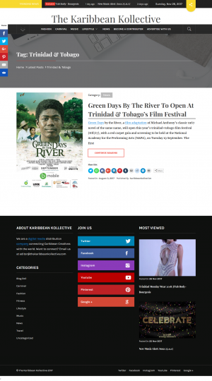 Green Days by the River to open the ttff/17
