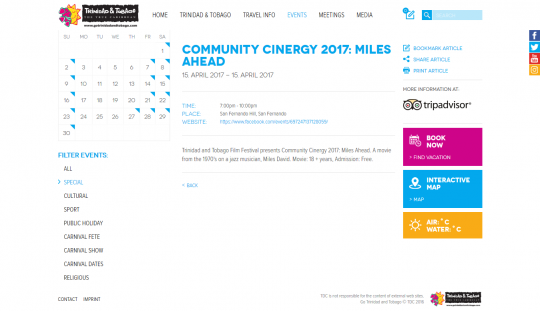 Community Cinergy 2017 : Miles Ahead