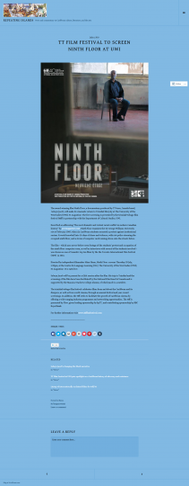 ttfilmfestival to screen Ninth Floor at UWI