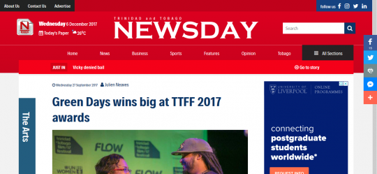 Green Days Wins Big at ttff 2017 Awards