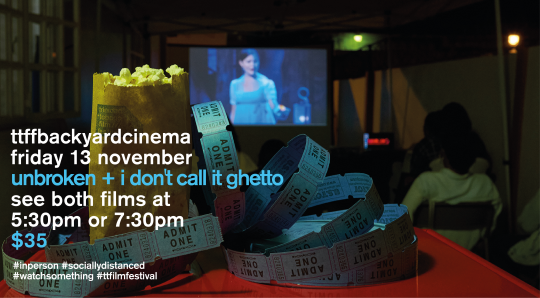 don't miss our first backyard cinema!